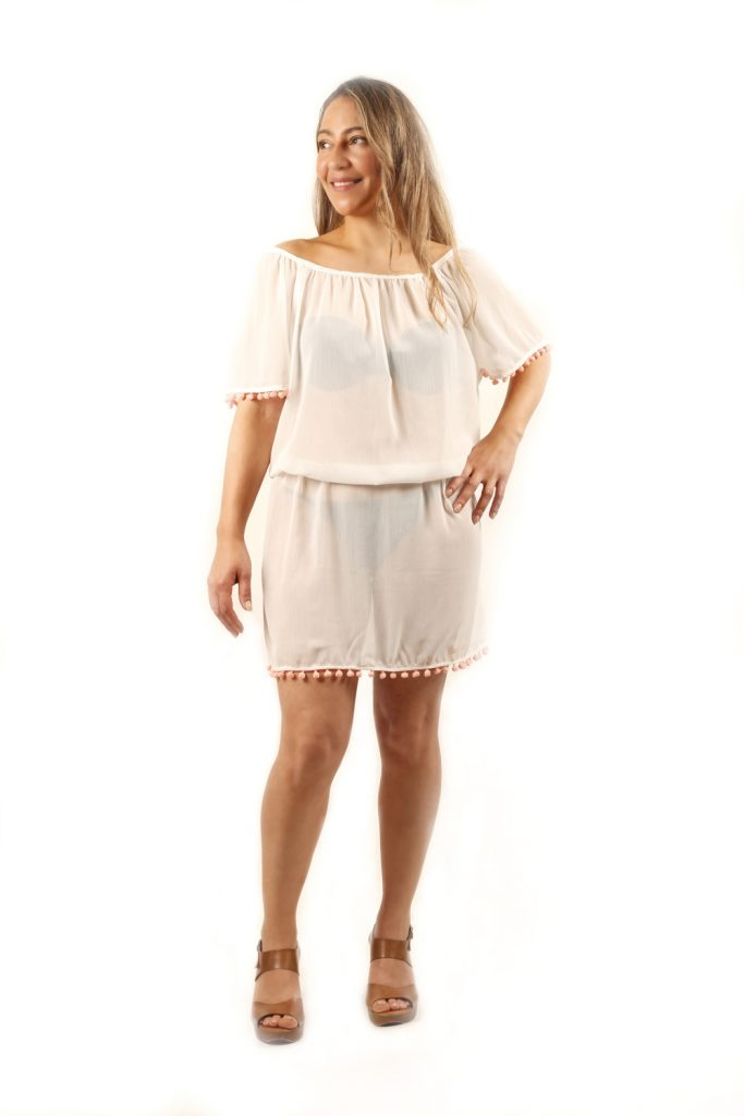 design by lia vestido tunica playera color blanco